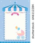 baby shower invitation cute...   Shutterstock .eps vector #646112284