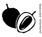 vector illustrations of lychees ... | Shutterstock .eps vector #646113046