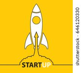 start up. income and success.... | Shutterstock .eps vector #646120330