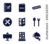 dining icons set. set of 9... | Shutterstock .eps vector #646126204