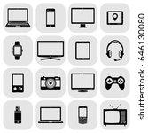 abstract vector set of digital... | Shutterstock .eps vector #646130080