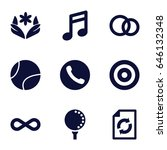 circle icons set. set of 9... | Shutterstock .eps vector #646132348
