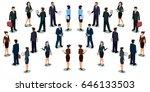 set of vector isometric men and ... | Shutterstock .eps vector #646133503