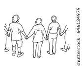 people holding hands   vector...   Shutterstock .eps vector #646134979