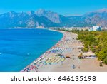 konyaalti beach  antalya turkey | Shutterstock . vector #646135198