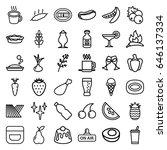 fresh icons set. set of 36... | Shutterstock .eps vector #646137334