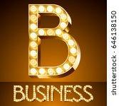 vector golden casino lamp light ... | Shutterstock .eps vector #646138150
