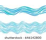 water waves vector seamless...   Shutterstock .eps vector #646142800