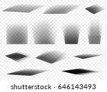 shadows vector set on... | Shutterstock .eps vector #646143493