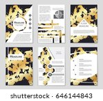 abstract vector layout... | Shutterstock .eps vector #646144843