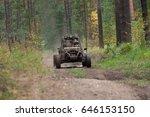 buggy car in dirt   Shutterstock . vector #646153150