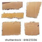 collection of  a cardboard... | Shutterstock . vector #64615336