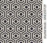 vector seamless pattern. modern ... | Shutterstock .eps vector #646153729