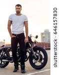 close up of a handsome rider... | Shutterstock . vector #646157830