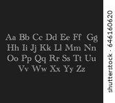 lettering of abc's alphabet on... | Shutterstock . vector #646160620