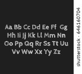 lettering of abc's alphabet on... | Shutterstock . vector #646160704