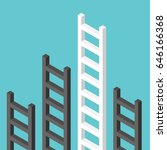 black isometric ladders and a... | Shutterstock . vector #646166368