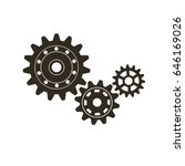 set of machine gears. vector... | Shutterstock .eps vector #646169026