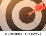 red dart target arrow hitting... | Shutterstock . vector #646169923