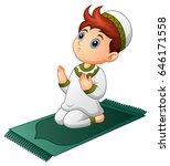 vector illustration of muslim... | Shutterstock .eps vector #646171558