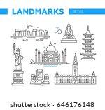 world famous landmarks  ... | Shutterstock .eps vector #646176148