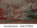 glitch image of a cherry... | Shutterstock . vector #646179820