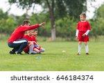kids soccer football   young... | Shutterstock . vector #646184374