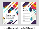 abstract vector layout... | Shutterstock .eps vector #646187620