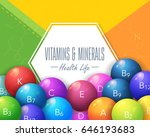 vitamins and minerals concept... | Shutterstock .eps vector #646193683