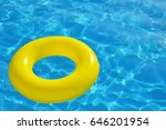 colorful inflatable tube... | Shutterstock . vector #646201954