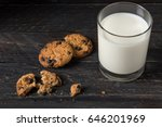tasty chocolate chip cookies on ... | Shutterstock . vector #646201969