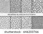 collection of retro memphis... | Shutterstock .eps vector #646203766