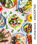 greek food background. meze ... | Shutterstock . vector #646209760
