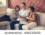 family bonding casual affection ...   Shutterstock . vector #646210630