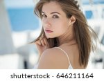 beautiful woman | Shutterstock . vector #646211164
