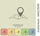 map pointer icon. line icon