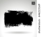 black brush stroke. grunge... | Shutterstock .eps vector #646215169