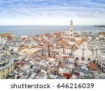panoramic view of old town in... | Shutterstock . vector #646216039