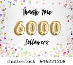 8000 followers thank you gold... | Shutterstock . vector #646221208