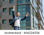 cheerful business man... | Shutterstock . vector #646226536