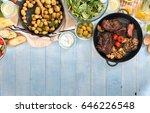 grilled steak  grilled... | Shutterstock . vector #646226548