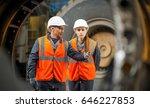 mechanic in the garage | Shutterstock . vector #646227853