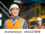 worker in front of a bug truck | Shutterstock . vector #646227898
