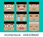 face cartoon | Shutterstock .eps vector #646228660