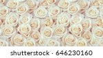 Small photo of White roses horizontal seamless pattern. White roses arrangement.