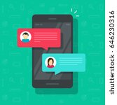 chat messages notification on... | Shutterstock .eps vector #646230316