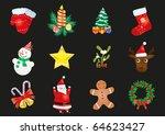 vector illustration of set of... | Shutterstock .eps vector #64623427