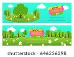 world environment day banner... | Shutterstock .eps vector #646236298