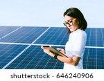 woman engineer working on... | Shutterstock . vector #646240906