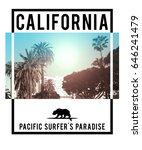 photo print california surf... | Shutterstock . vector #646241479